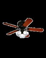 PROKLIMA GRENADA/ONTARIO - mennyezeti ventilátor világítással (Ø105cm, cseresznye-dió)