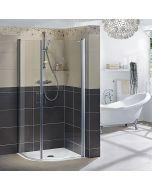 CAMARGUE VARIO W11 - zuhanykabinszett (fehér, íves, 100x100x195cm)