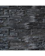 DOMINART SOOTBLACK - falburkoló (fekete, 39x11,2cm, 1,05m2)