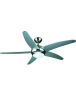 PROKLIMA FABIOLA/TOBAGO - mennyezeti ventilátor világítással (Ø132cm, ezüst)