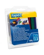 RAPID - ragasztórúd (ovális, 125g, piros-zöld-kék)