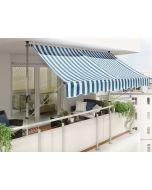 SUNFUN - feltekerhető napellenző (2,5x1,3m, kék-fehér)