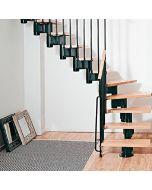 FONTANOT KOMPACT 89 L - L-alakú beltéri lépcső (fekete)