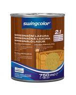 SWINGCOLOR 2in1 - impregnáló lazúr - tölgy 0,75L