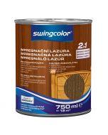 SWINGCOLOR 2in1 - impregnáló lazúr - dió 0,75L
