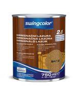 SWINGCOLOR 2in1 - impregnáló lazúr - teak 0,75L