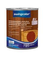 SWINGCOLOR 2in1 - impregnáló lazúr - mahagóni 0,75L