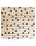 FLIESEN QUADRAT CRYSTAL MIX - mozaik (bézs/barna, 32,2x30,5cm)