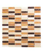 FLIESEN AVANTGARDE CRYSTAL MIX - mozaik (bézs-barna, 31x32,2cm)