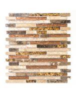 FLIESEN AVANTGARDE CRYSTAL MIX - mozaik (bézs-barna mix, 30x30cm)