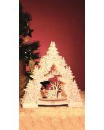 Asztaldísz (karácsonyfa, LED)