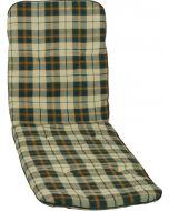 GARDEN SEAT CAPRI - napozóágypárna (193x60x5cm, zöld, kockás)