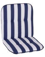 GARDEN SEAT CAPRI - alacsony támlás párna (96x47x5cm, kék, csíkos)