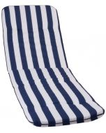 GARDEN SEAT CAPRI - napozóágypárna (193x60x5cm, kék, csíkos)
