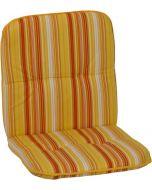 GARDEN SEAT CAPRI - alacsony támlás párna (96x47x5cm, sárga, csíkos)
