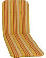 GARDEN SEAT CAPRI - napozóágypárna (193x60x5cm, sárga, csíkos)