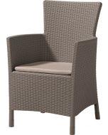 ALLIBERT IOWA - kerti fotel (cappuccino-homok)