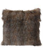 Díszpárna (45x45cm, hosszú szőrű, 3féle)