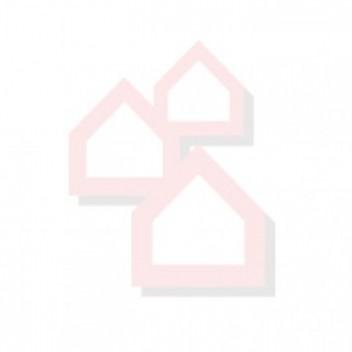 Csúcsdísz (üveg, fehér, fényes, 26cm)