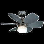 PROKLIMA HAITI/CLAREMONT - mennyezeti ventilátor világítással (Ø76cm, mahagóni-ezüst)