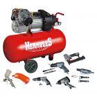 HERKULES BAUHAUS EDITION - kompresszor 356/10/50 2200W (tartozékokkal)