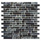 FLIESEN CRYSTAL MIX - mozaik (fekete mix, 29,8x30,5cm)