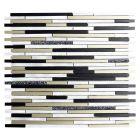 FLIESEN MIX ALF - mozaik (fekete/bronz/arany mix, 30x30cm)