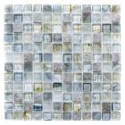 FLIESEN QUADRAT CRYSTAL MIX - mozaik (szürke/kék, 30,2x30,2cm)
