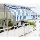 SUNFUN - feltekerhető napellenző (3x1,3m, kék-fehér)