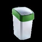 CURVER PACIFIC FLIP BIN - billenőfedeles szemetes (zöld-ezüst, 10L)