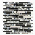 FLIESEN AVANTGARDE CRYSTAL MIX - mozaik (fekete mix, 30x30cm)