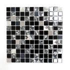 FLIESEN - öntapadós mozaik (fekete mix, 30x30cm)