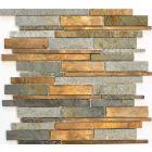 FLIESEN STYLE - mozaik (kő-réz, 30x31cm)