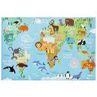 KIDS CLUB TORINO - gyerekszőnyeg (160x230cm, világtérkép)