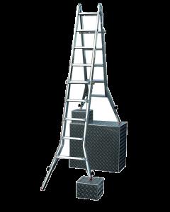 STABILOMAT PROFILINE - alumínium teleszkópos csuklós létra (4x4 fokos)