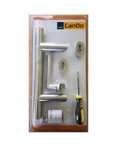 CANDO INOX 80 - ajtóbehúzó szett (80cm, jobb)