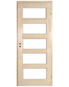 ZEBRA 5 - beltéri ajtó 90x210 (mélyenüvegezhető-jobb-pallótokos)