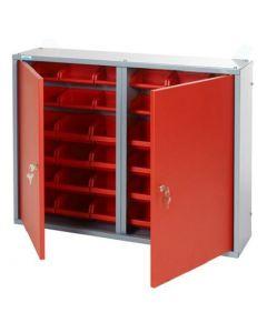 KÜPPER - fali szekrény (2 ajtós, 36 db csavartartóval)