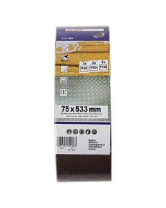 CRAFTOMAT - csiszolószalag 7,5x53,3cm (9db)