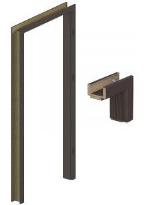 PORTA SYSTEM - beltéri ajtótok 100x210 (sötét tölgy-jobb)