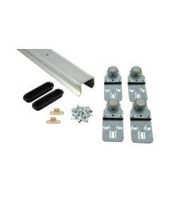 HBS BETZ - szekrény tolóajtó vasalat szerelési anyaggal (alumínium, 28kg, 150cm)