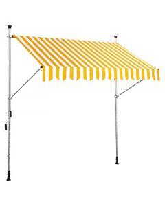 SUNFUN - feltekerhető napellenző (2,5x1,3m, sárga-fehér)