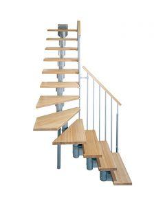 FONTANOT ARKÉ KOMPACT 74 - 1/4 fordulós beltéri lépcsőrendszer (szürke-világosbükk)