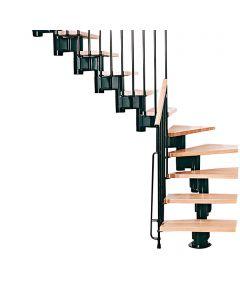 FONTANOT ARKÉ KOMPACT 89 - 1/4 fordulós beltéri lépcsőrendszer (fekete-világosbükk)