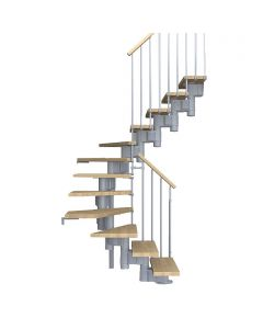 FONTANOT ARKÉ KOMPACT 89 - 2/4 fordulós beltéri lépcsőrendszer (szürke-világosbükk)