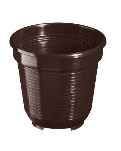 GELI STANDARD - műanyag virágcserép (Ø8cm, barna)