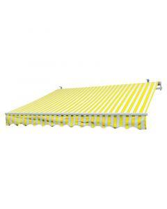 SUNFUN - csuklókaros napellenző (3x2m, sárga-fehér)