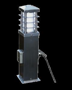STARLUX GOMERA PLUS - kültéri állólámpa 2 dugaljjal (1xE27, 44cm)