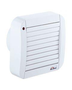 AIR-CIRCLE N39214 - fali ventilátor zsaluval és időkapcsolóval (Ø100mm, fehér)