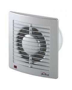 AIR-CIRCLE N39215 - fali ventilátor (Ø100mm, nemesacél színű)